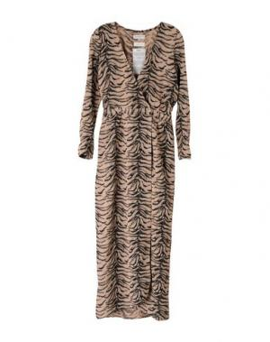 Длинное платье HEIMSTONE. Цвет: песочный