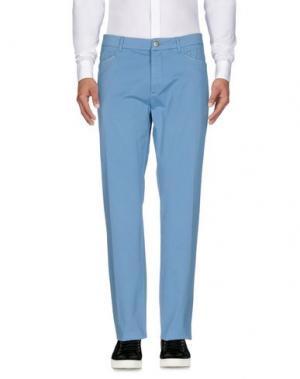 Повседневные брюки D-21. Цвет: лазурный