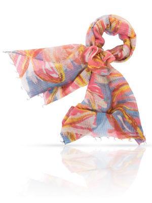 Палантин MICHEL KATANA`. Цвет: коричневый, розовый, серо-голубой