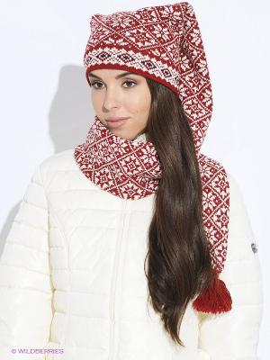 Шапка-шарф Scandica. Цвет: темно-красный