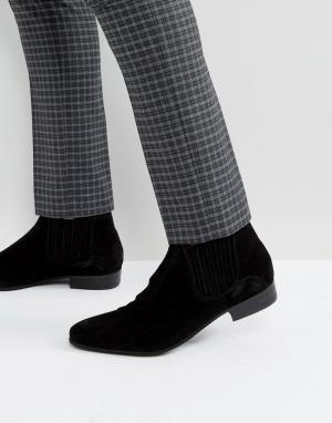 Hudson London Черные замшевые ботинки челси Zelus. Цвет: черный