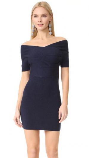 Мини-платье с запахом Michelle Mason. Цвет: темно-синий