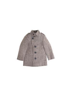 Пальто твидовое для мальчика Gioia di Mamma. Цвет: коричневый