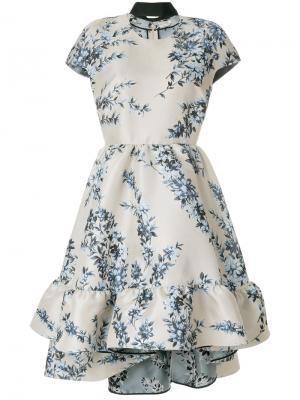Floral flared dress Fendi. Цвет: серый