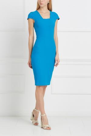 Однотонное платье Whistler Roland Mouret. Цвет: синий