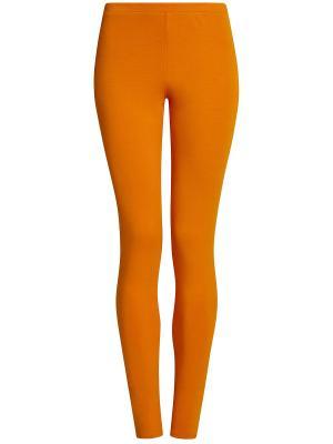 Леггинсы Oodji. Цвет: оранжевый