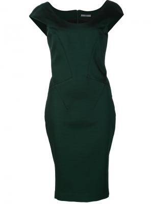 Платье Irina Zac Posen. Цвет: зелёный