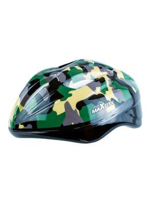 Роликовый шлем BABYKHAKI MAXCITY. Цвет: зеленый