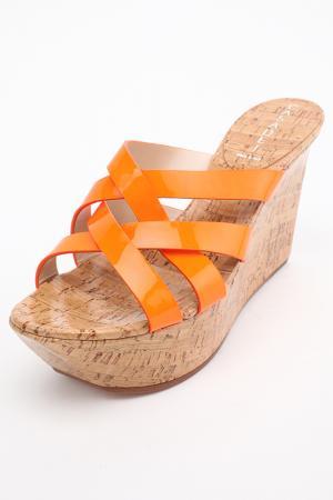Сабо Casadei. Цвет: оранжевый