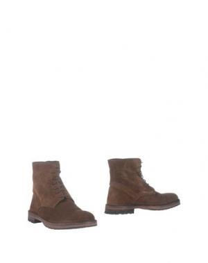 Полусапоги и высокие ботинки MAURO FEDELI. Цвет: темно-коричневый