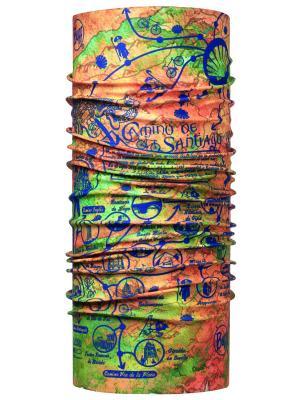 Бандана BUFF 2017 High UV CAMINO ORIGIN MULTI. Цвет: оранжевый, салатовый