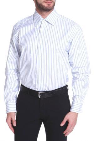 Рубашка Dormeuil. Цвет: белый, бледно-голубой