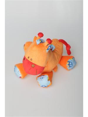 Игрушка терьер Волшебный мир. Цвет: красный, оранжевый