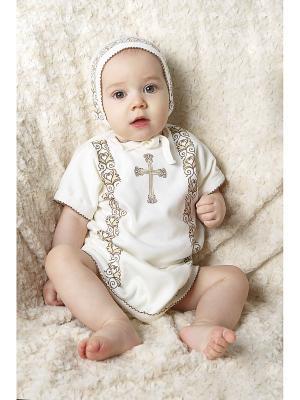 Набор для крещения SNO KATT. Цвет: молочный