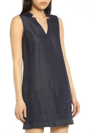 Легкое платье с V-образным вырезом ERMANNO BY SCERVINO. Цвет: 700 blue