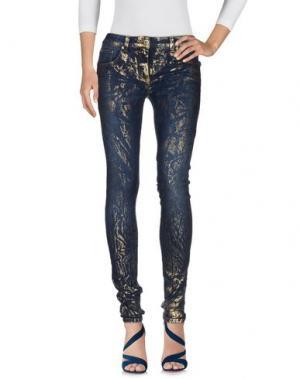 Джинсовые брюки ROCCOBAROCCO. Цвет: синий
