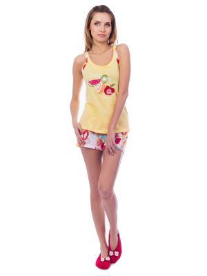 Пижама женская ФРЕШ MELADO. Цвет: желтый