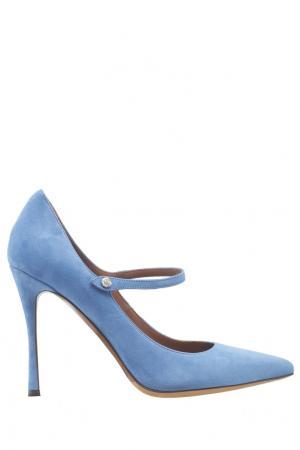 Замшевые туфли Lula Tabitha Simmons. Цвет: голубой
