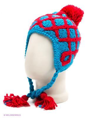 Шапка R.Mountain. Цвет: красный, голубой