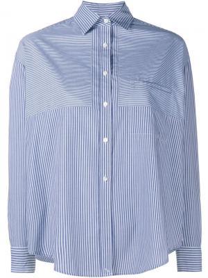 Рубашка в полоску Vince. Цвет: синий