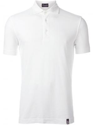 Классическая футболка-поло Drumohr. Цвет: белый