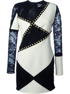 Платье с заклепками Fausto Puglisi. Цвет: чёрный