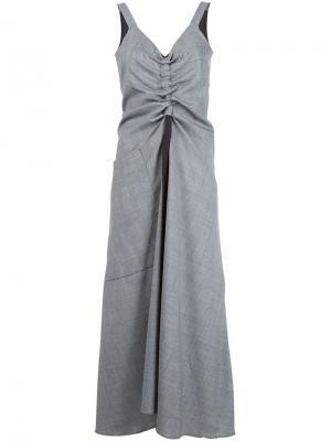 Драпированное платье Ellery. Цвет: серый