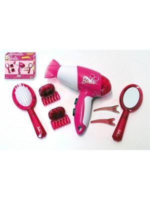 Игровой набор с феном Барби KLEIN. Цвет: розовый
