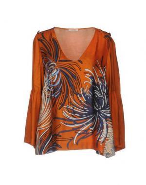 Блузка DEVOTION. Цвет: оранжевый