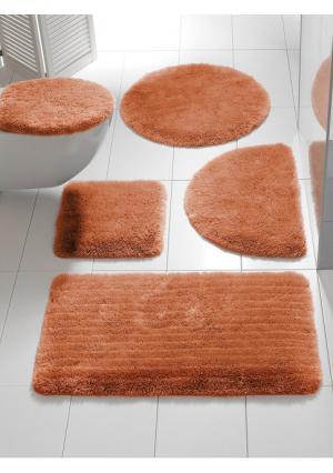 Коврик для ванной Heine Home. Цвет: вишневый, желтый, оранжевый, песочный