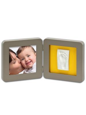 Рамочка двойная Baby Art. Цвет: серый, желтый, бирюзовый