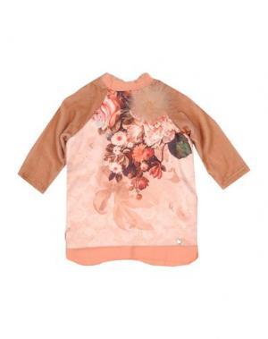 Платье MICROBE. Цвет: телесный