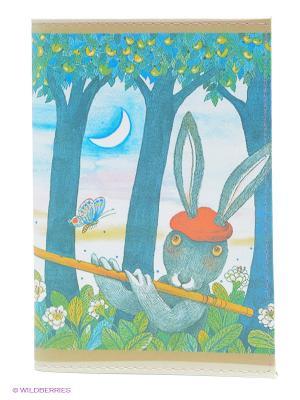 Обложка для паспорта Музыка леса Mitya Veselkov. Цвет: синий, зеленый, серый, желтый