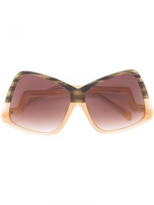 Солнцезащитные очки Stardust Sama Eyewear. Цвет: жёлтый и оранжевый