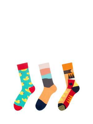 Носки, 3 пары Sammy Icon. Цвет: черный, красный, желтый