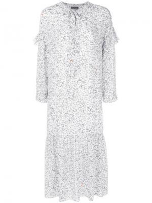 Платье с рисунком Erika Mih Jeans. Цвет: белый