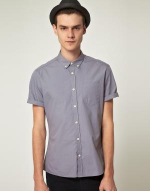 ASOS Рубашка с короткими рукавами. Цвет: серый