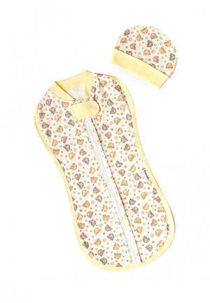 Конверт Pecorella. Цвет: желтый