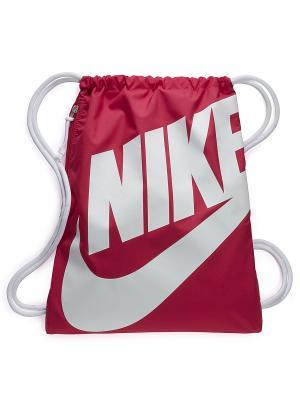 Мешок для обуви NIKE HERITAGE GYMSACK. Цвет: розовый