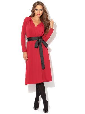 Платье TuttoBene. Цвет: красный