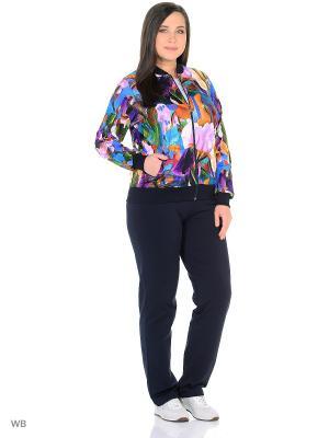Домашний костюм Nicole collection. Цвет: фиолетовый, оранжевый, белый, сиреневый
