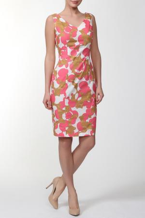 Платье Roberto Bellini. Цвет: розовый, белый