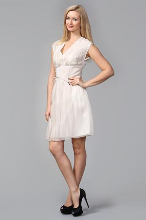 Платье Bottega Veneta. Цвет: бежевый
