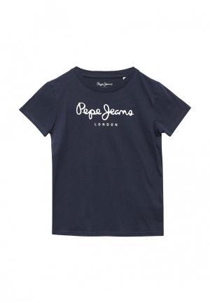 Футболка Pepe Jeans. Цвет: синий