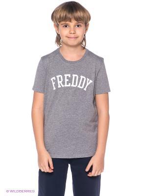 Футболка Freddy. Цвет: серый