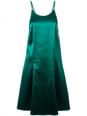 Платье с глубоким вырезом сзади Attico. Цвет: зелёный