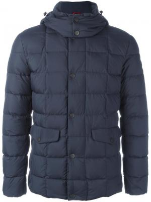 Куртка-пуховик на молнии Fay. Цвет: синий