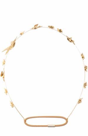Повязка для волос с декором Jennifer Behr. Цвет: золотой