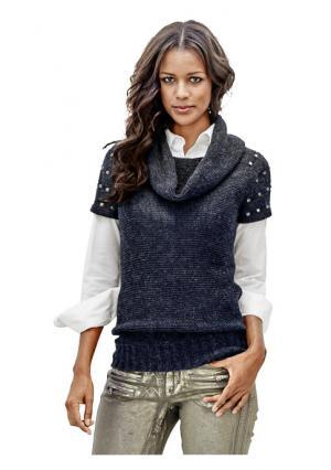 Пуловер B.C. BEST CONNECTIONS. Цвет: бежевый меланжевый, зеленый, темно-синий