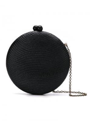 Круглый клатч на цепочке Serpui. Цвет: чёрный